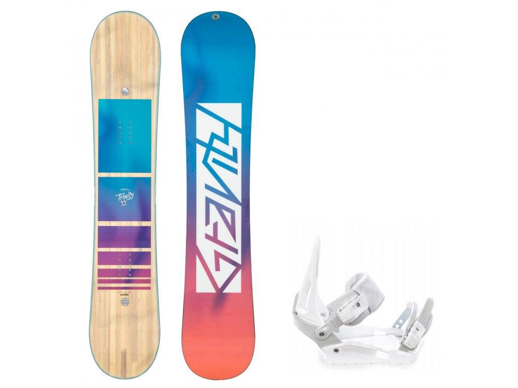 snowboard komplet gravity trinity s200 white