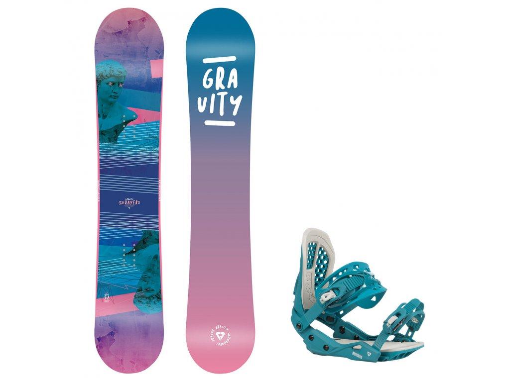 snowboard komplet gravity voayer g3 7590