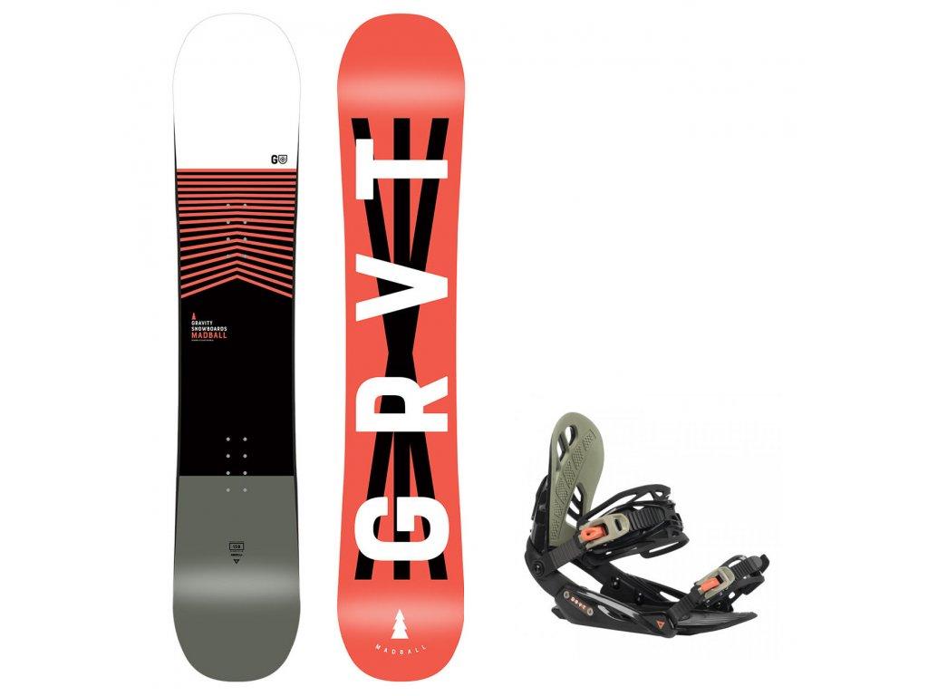 snowboard komplet gravity madball g1