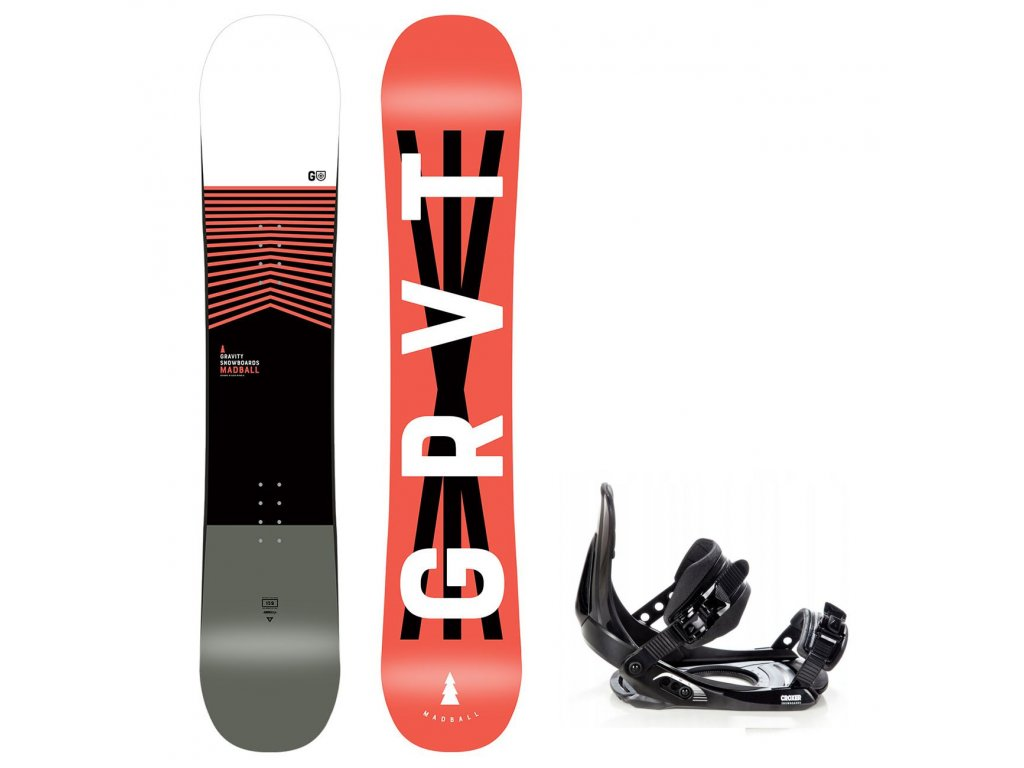 snowboard komplet gravity madball croxer