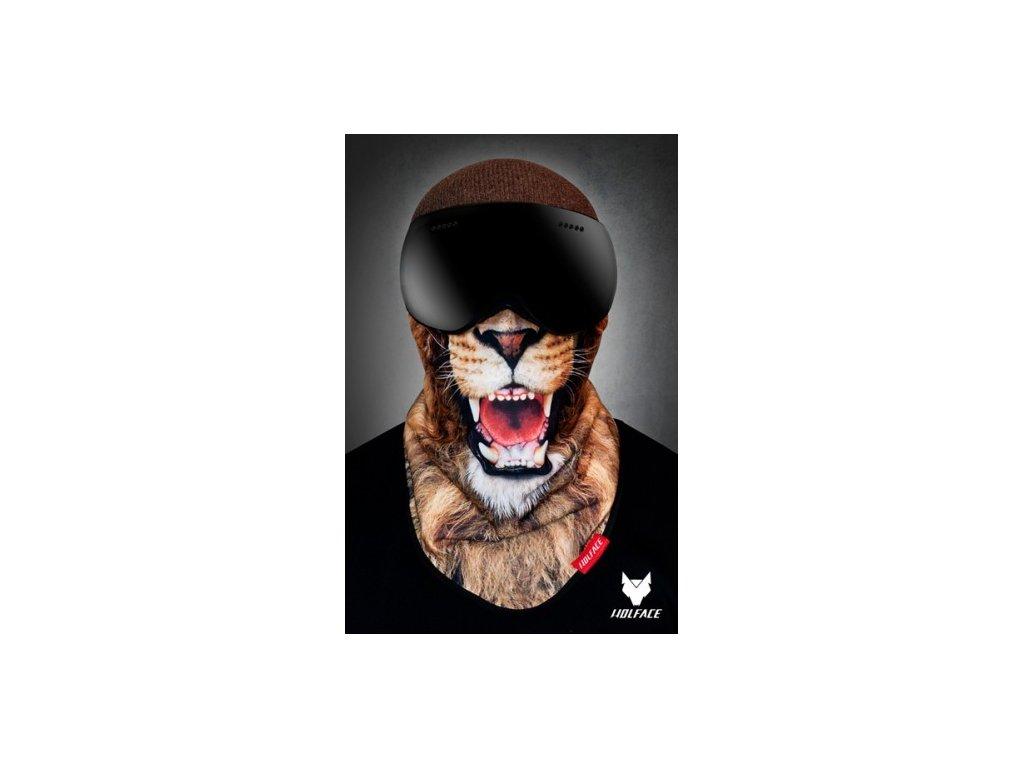 Nákrčník (bandana) Wolface Gold lion