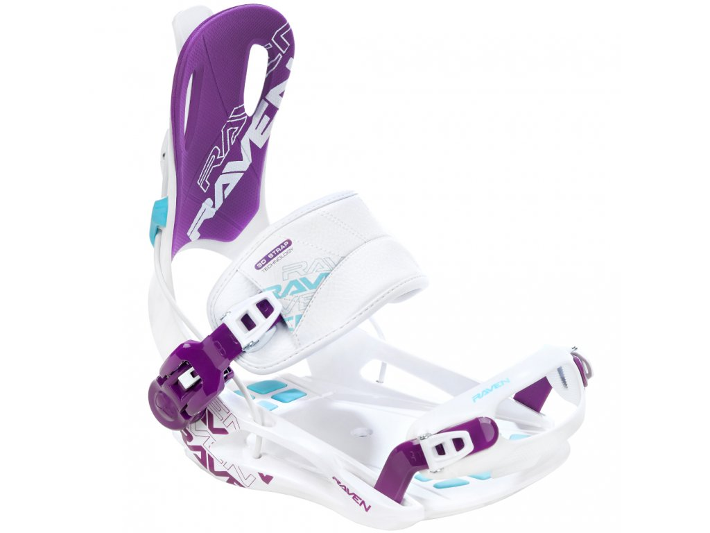 Snowboard bindings Raven FT270 White Blue Violet M