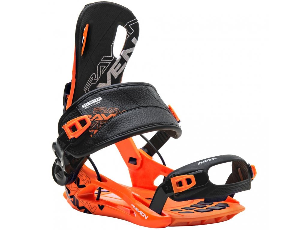 Snowboard bindings Raven FT270 Black Orange L