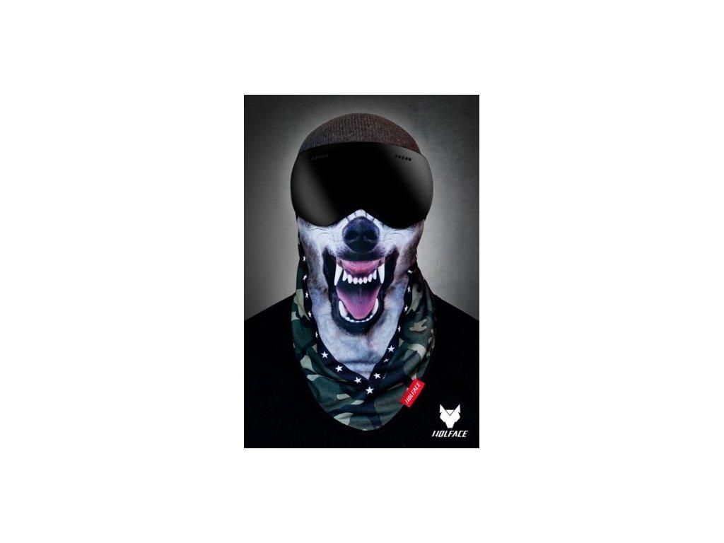 Nákrčník (bandana) Wolface Wolf moro