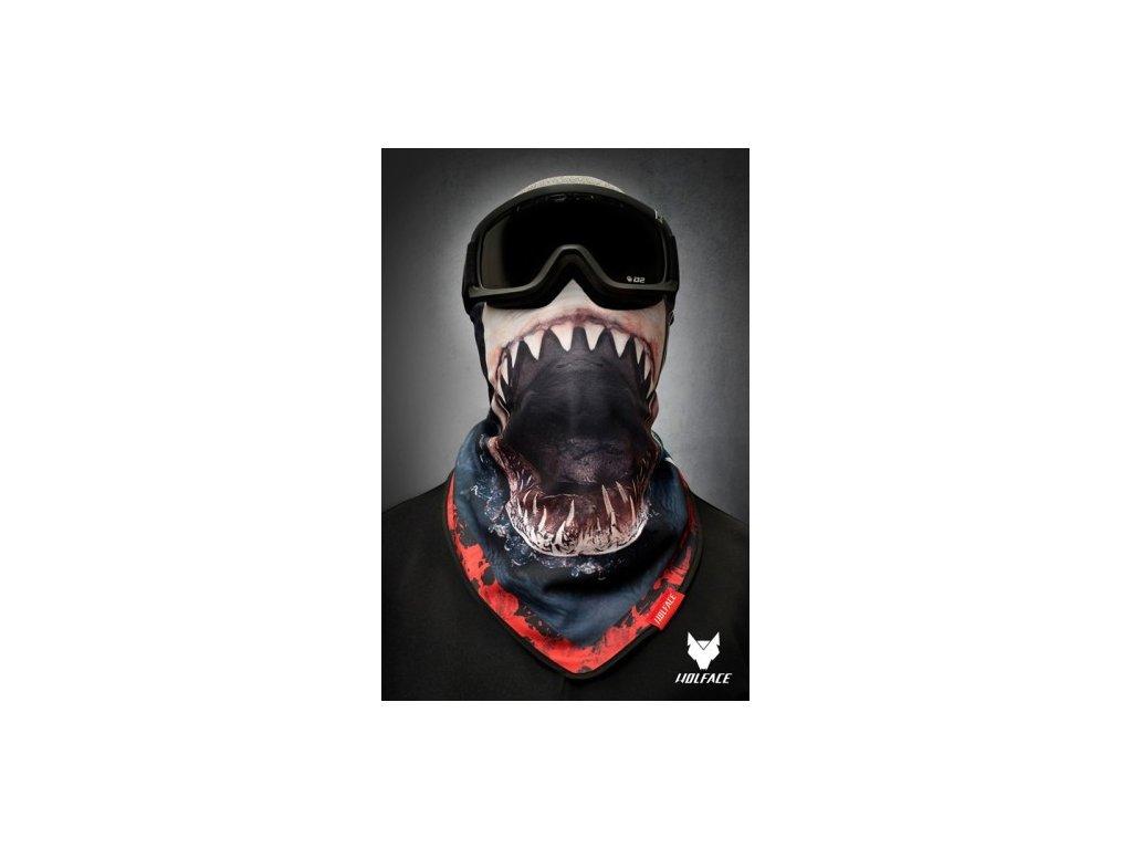 Nákrčník (bandana) Wolface SHARK ATTACK