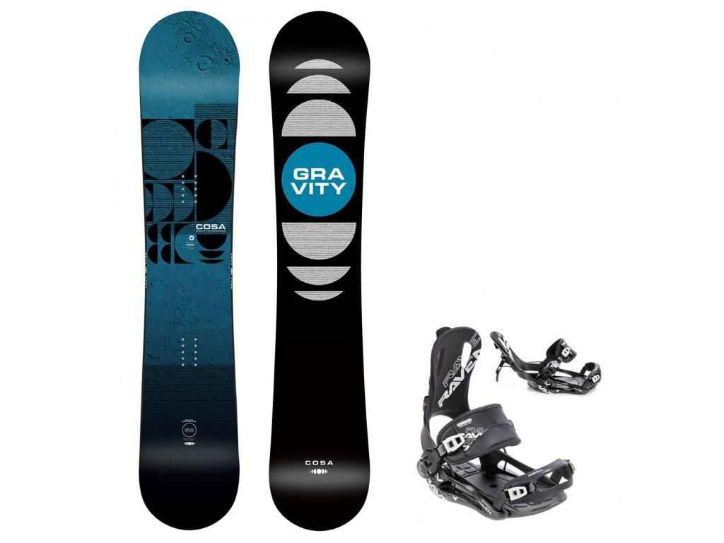 snowboard komplet gravity cosa fastec