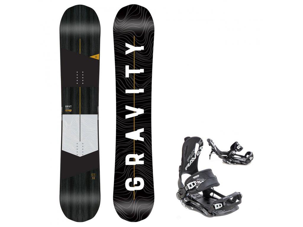 snowboard komplet gravity symbol fastec