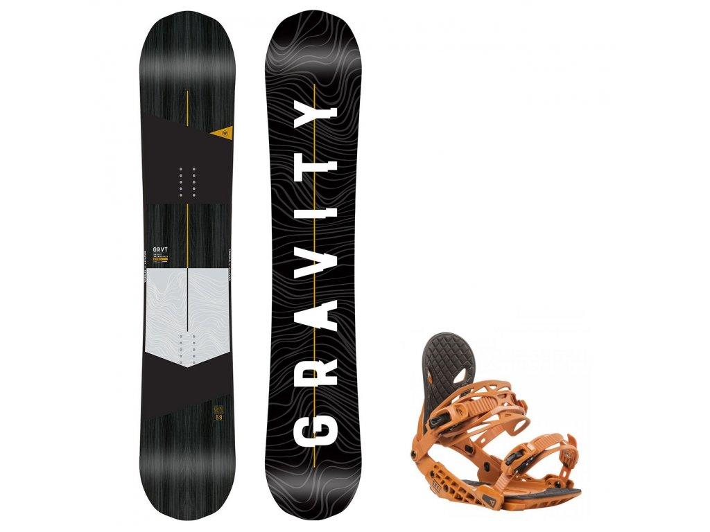 snowboard komplet gravity symbol g2 rust