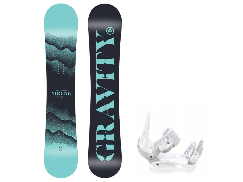 snowboard komplet gravity sirene s200 white