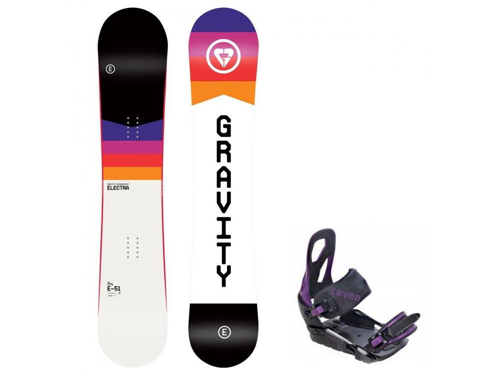 snowboard komplet gravity electra s200 violet