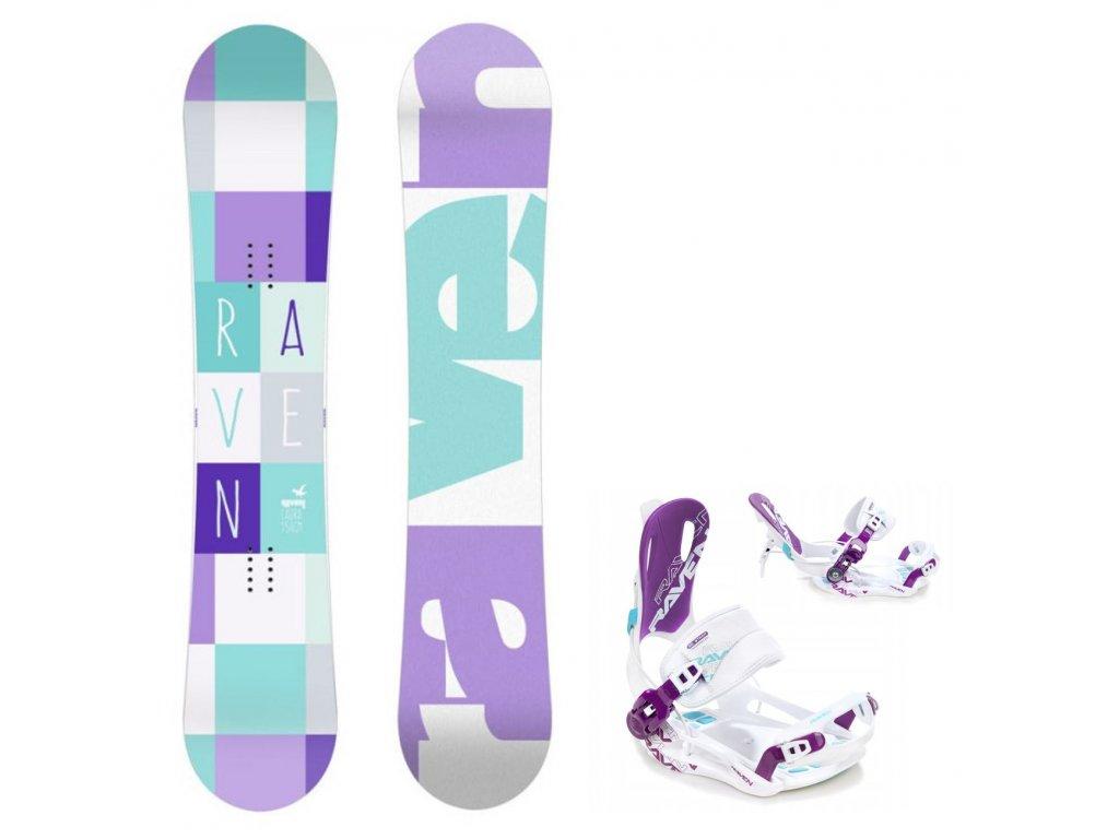 snowboard komplet gravity laura fastec white blue