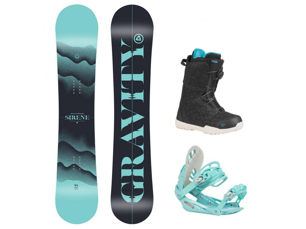 snowboard komplet gravity sirene g1 aura