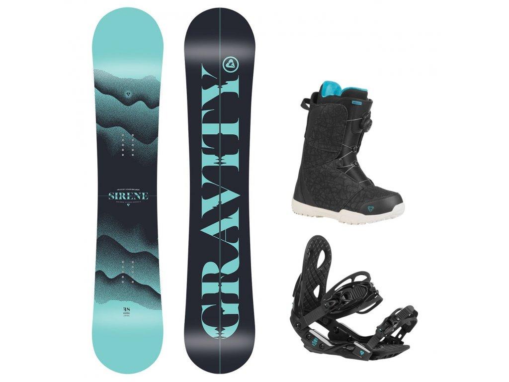 snowboard komplet gravity sirene g2 aura