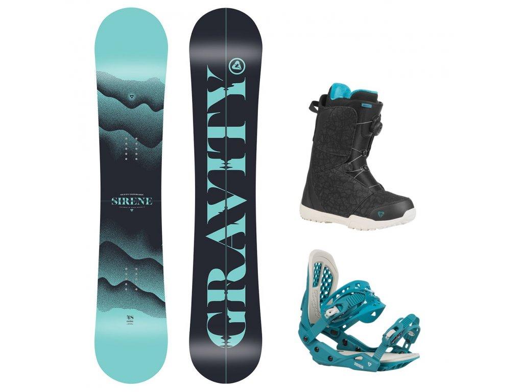 snowboard komplet gravity sirene g3 aura
