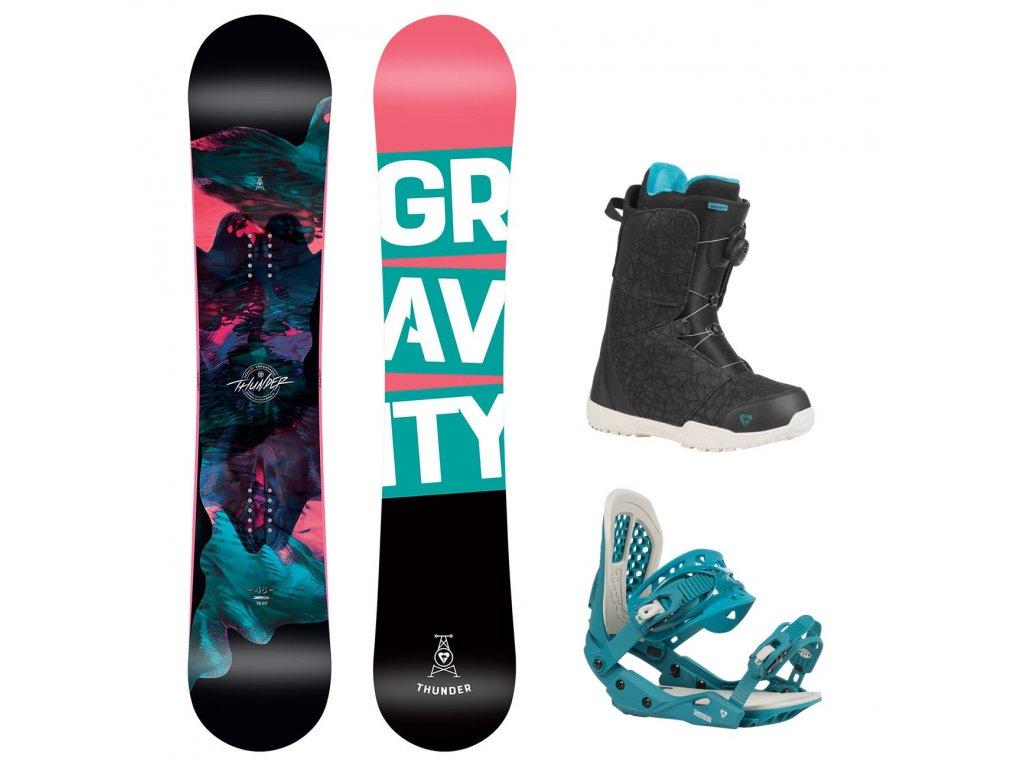 snowboard komplet gravity thunder g3 aura