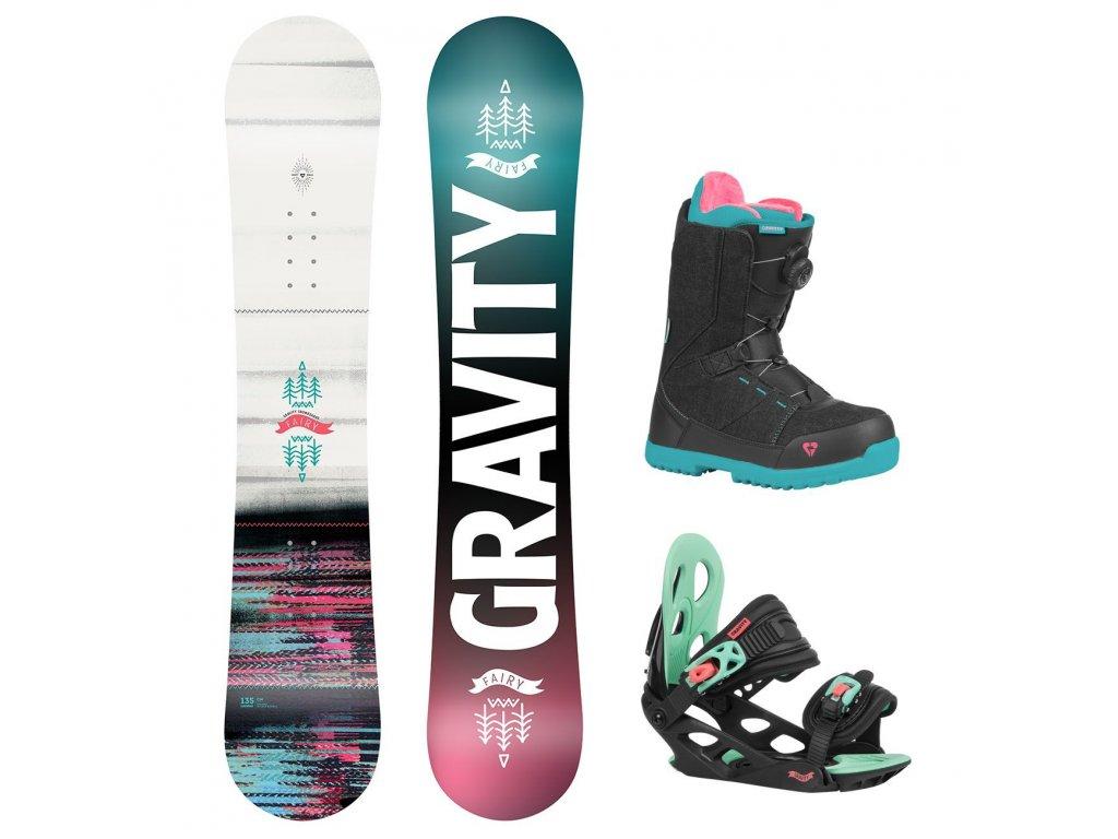 snowboard komplet gravity fairy g1 micra