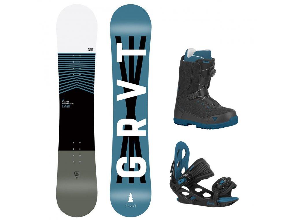 snowboard komplet gravity flash g1 micro