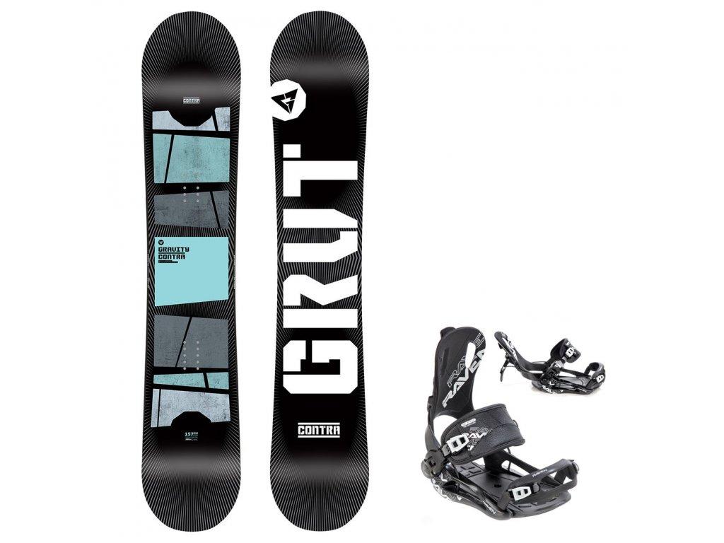 snowboard komplet gravity contra fastec