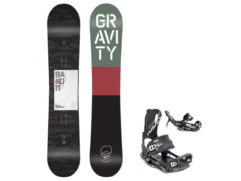 snowboard komplet gravity bandit fastec