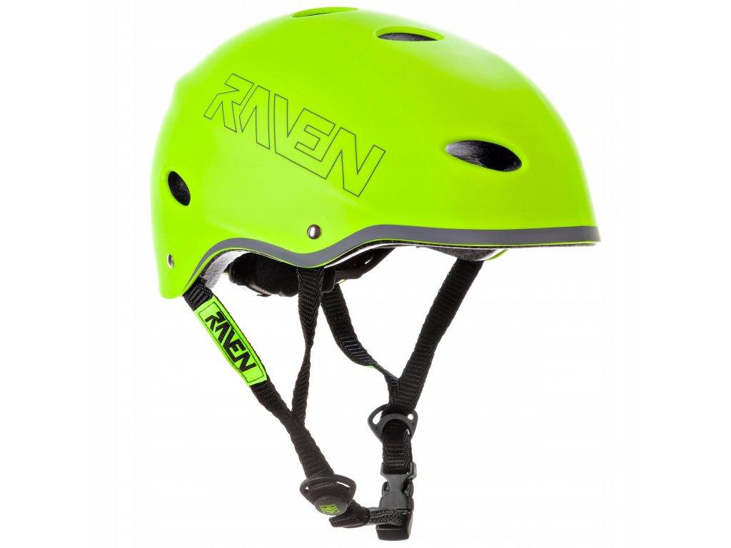 helma na kolobezku brusle snowboard RAVEN F511 lemon
