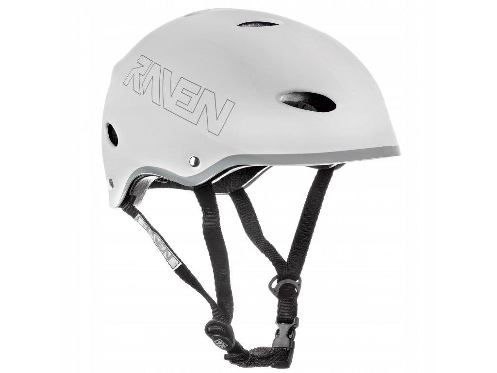 helma na kolobezku brusle snowboard RAVEN F511 white