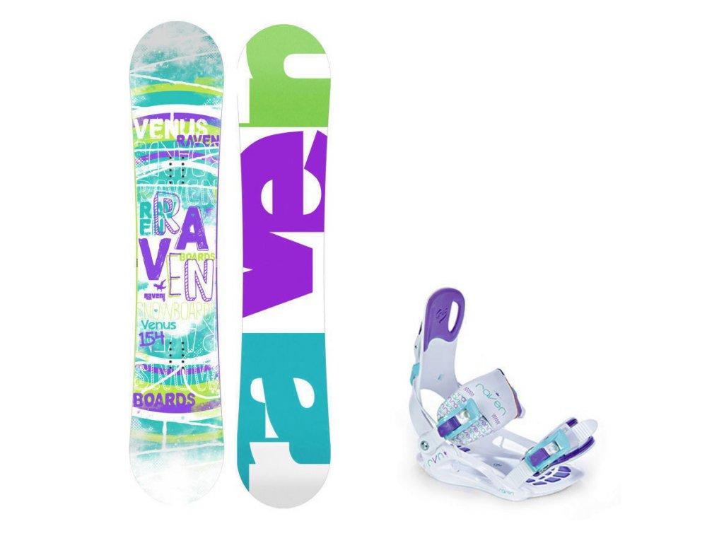 Snowboard komplet Raven Venus + vázání Starlet white