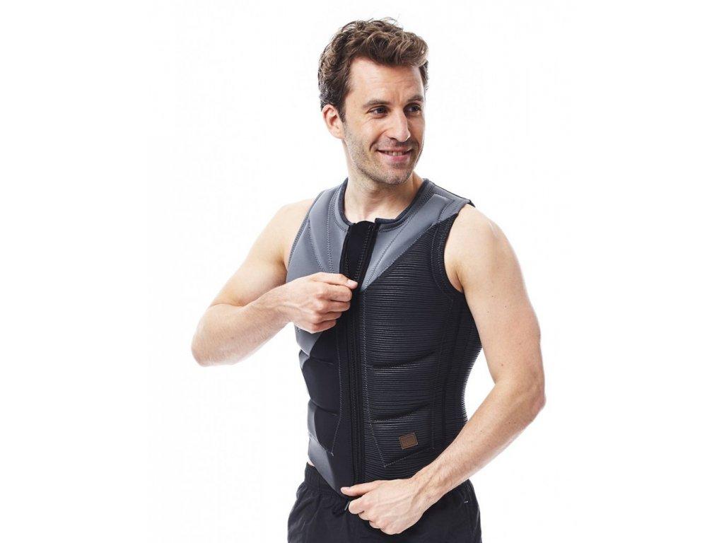 wake vesta Comp vest men zipper grey 2017
