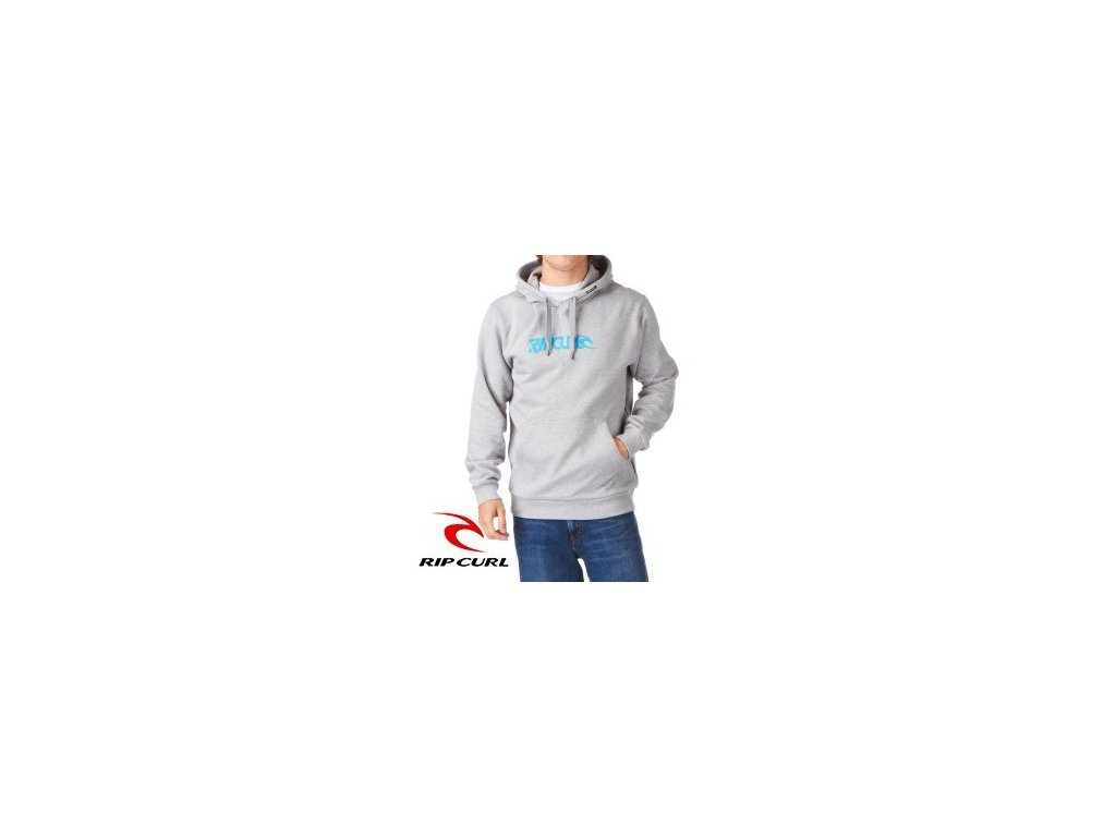 Mikina Rip Curl Fanning logo cement marle