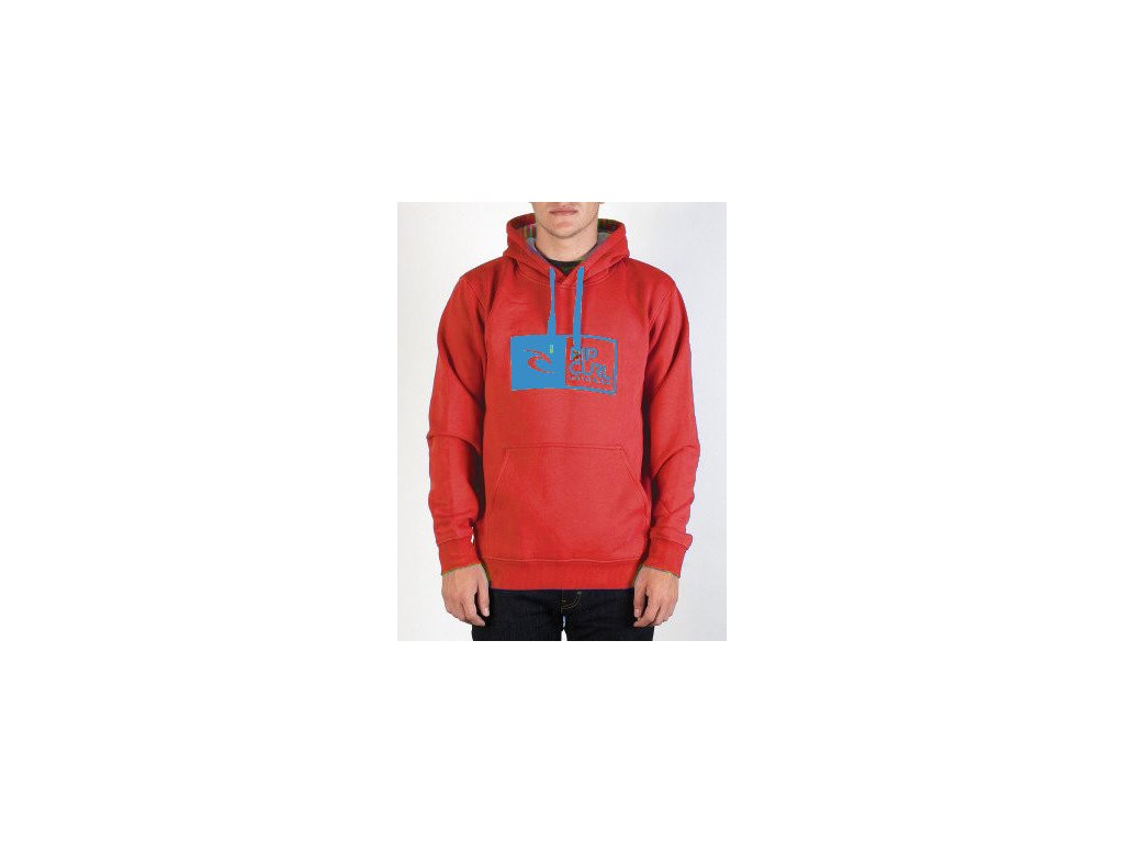 Mikina Rip Curl Signature Pop Over Fleece red