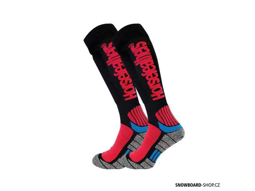 Snowboard ponožky Horsefeathers Frontier red