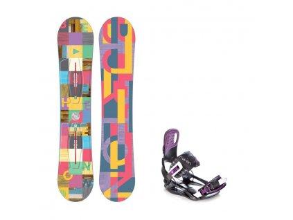 Snowboard komplet Burton Feather 16/17 + vázání Starlet