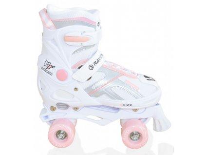 Trekové Roller brusle Raven Pulse white/pink