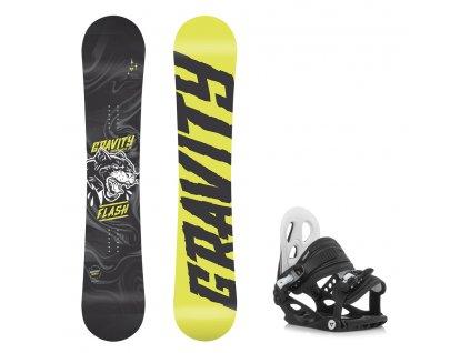 Dětský snowboard komplet Gravity Flash 18/19 + vázání G1jr