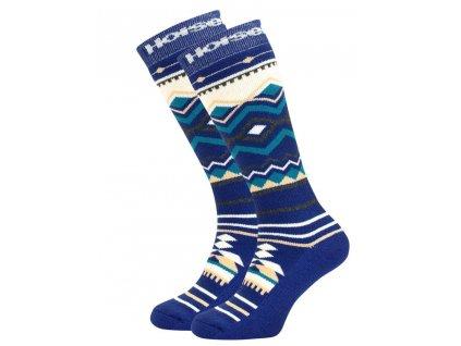 Snowboard ponožky Horsefeathers Native navy