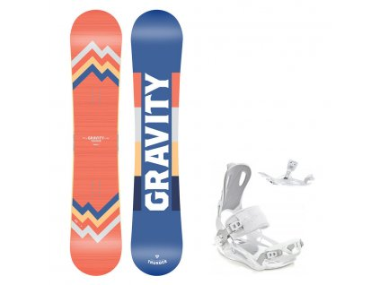 Snowboard komplet Gravity Thunder 19/20 + vázání Fastec