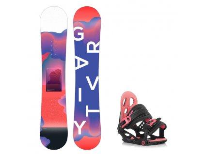 Snowboard komplet Gravity Fairy 19/20 junior + G1jr