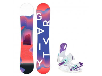Snowboard komplet Gravity Fairy 19/20 junior + Starlet