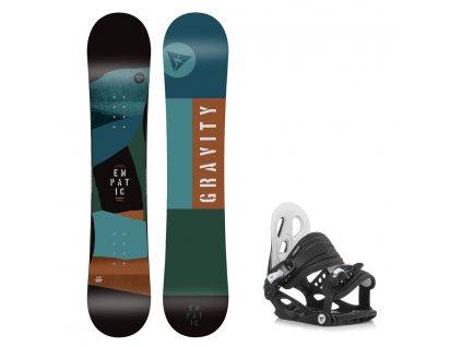 Snowboard komplet Gravity Empatic 19/20 junior + G1jr