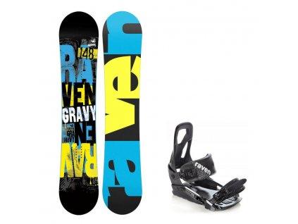 Snowboard komplet Raven Gravy + vázání s200