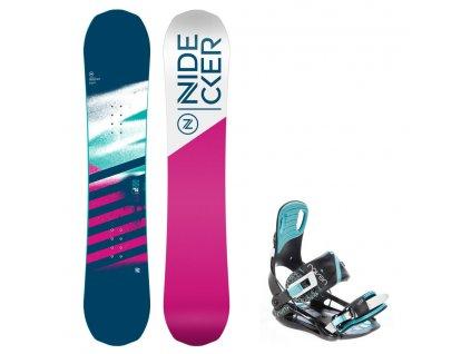 Snowboard komplet Nidecker Flake 19/20 + vázání Starlet mint