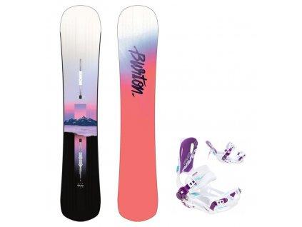 snowboard komplet burton hideaway fastec
