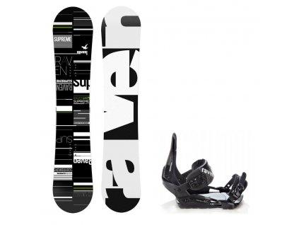 Snowboard komplet Raven Supreme + vázání Croxer