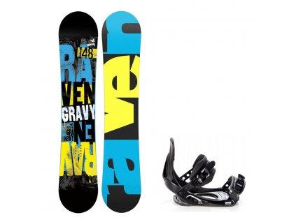 big 15705439926671 snowboard komplet raven gravy vazani croxer