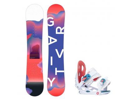 Snowboard komplet Gravity Fairy 19/20 mini (110, 120)