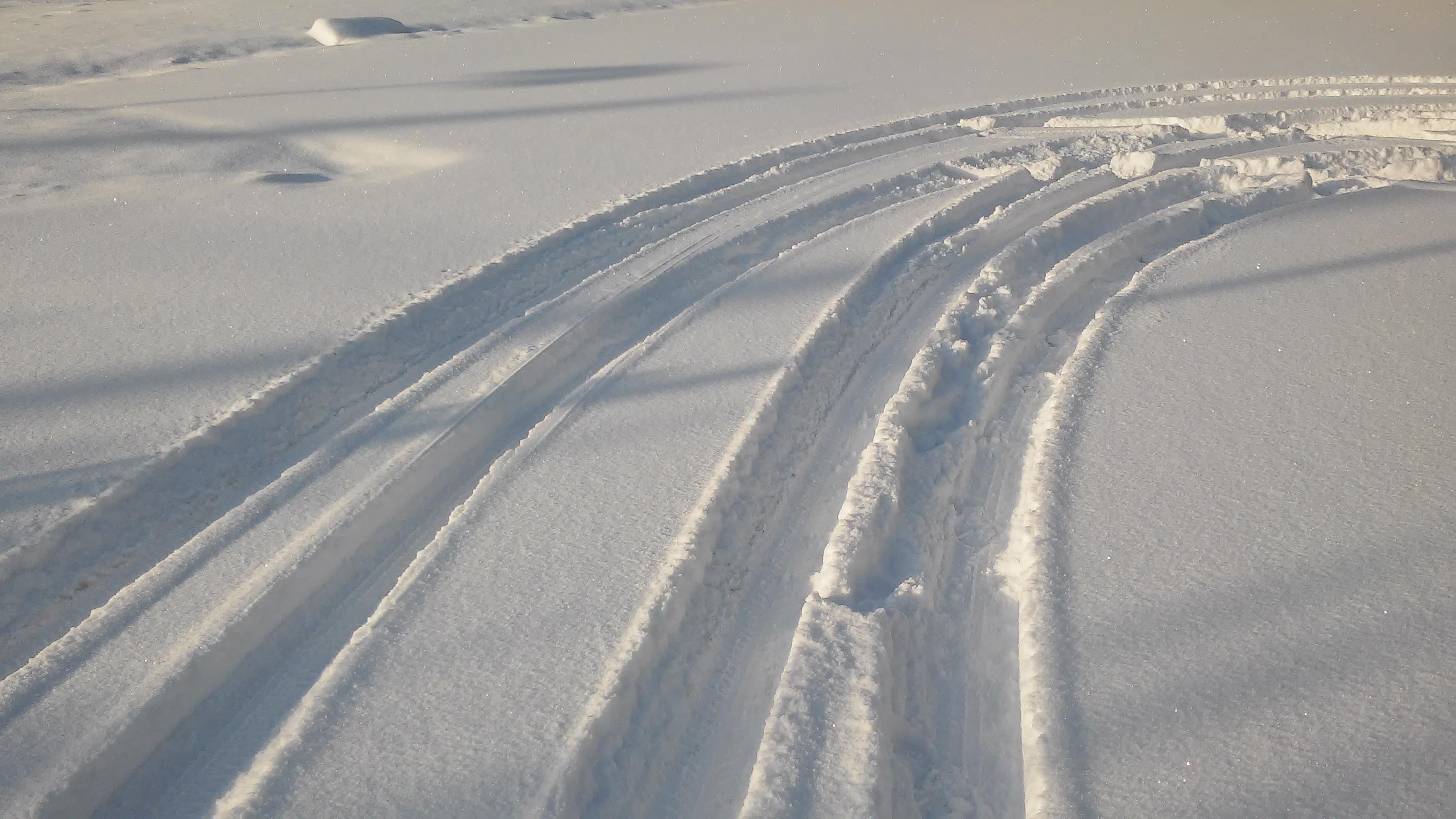 Jízda v hlubokém sněhu