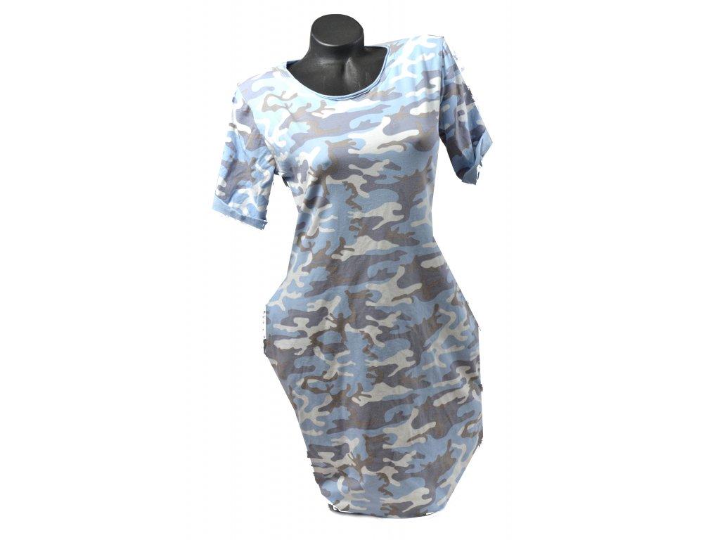 Šaty woodland - více barev (Barva Modrá, Velikost UNI)