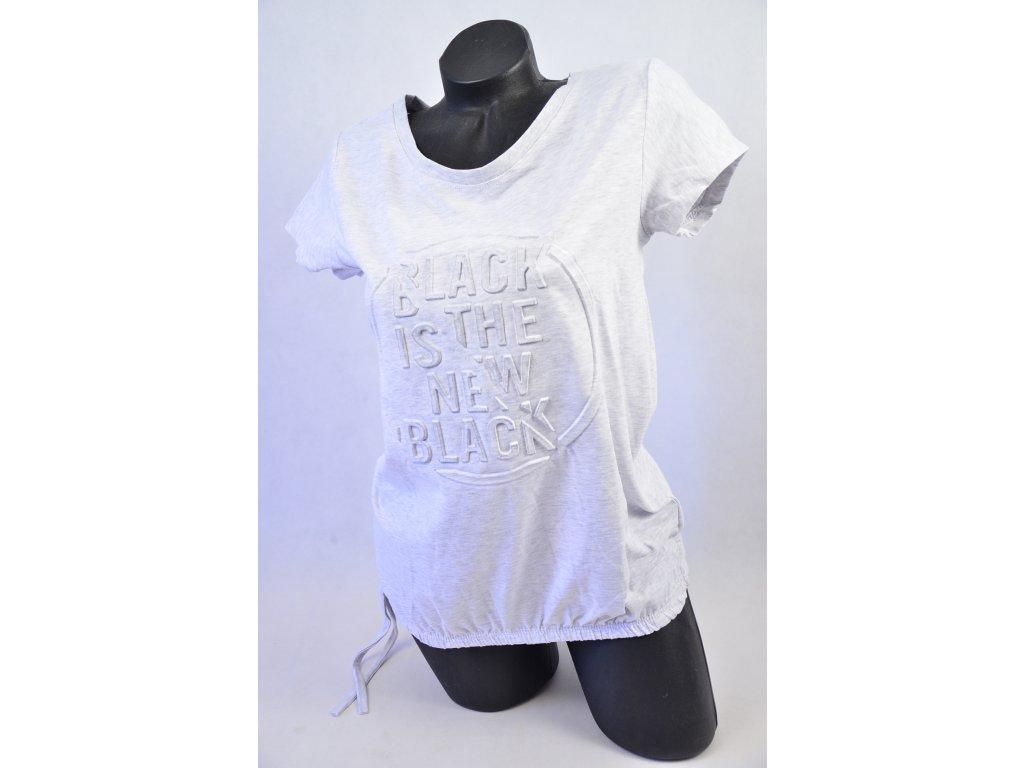 Módní triko s nápisem (Barva Šedá)