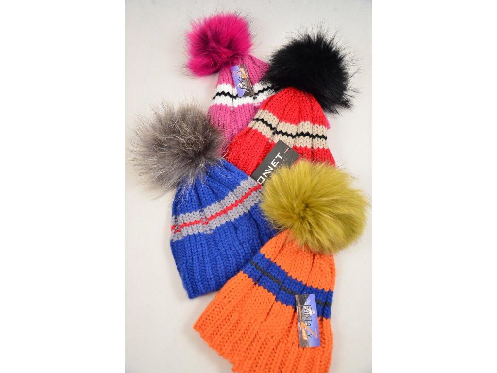 Čepice s pravou kožešinou MÝVAL BONNET | SNOW EAGLE