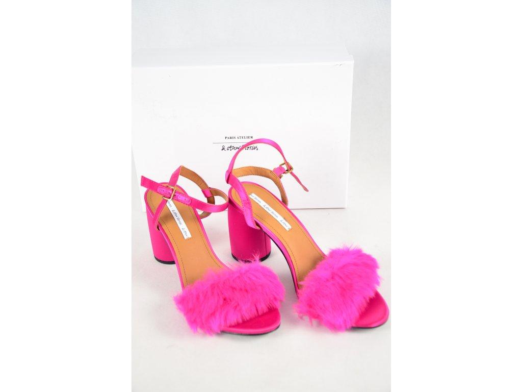 Luxusní sandálky na podpatku