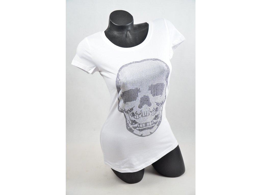 eafeecc4e51 LUXUSNÍ tričko s kamínky LEBKA - SNOW EAGLE